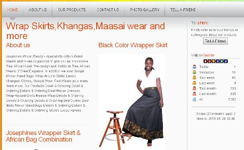 JOSPHINES AFRICAN DESIGN - Wrap Skirts,Khangas,Maasai wear and more