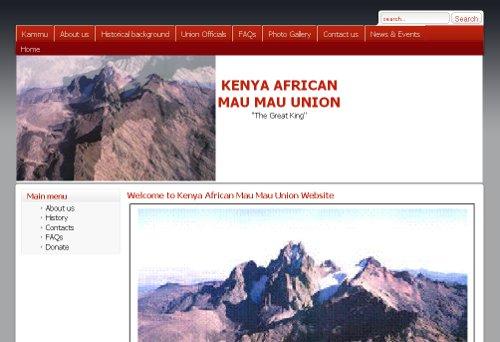 Welcome to Kenya African Mau Mau Union Website
